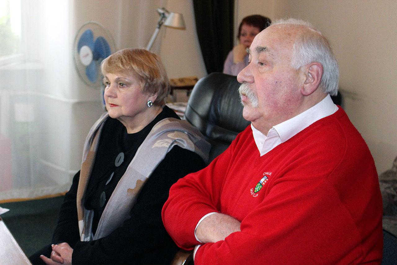 Таїсія Литвиненко та Федір Стригун на перс-конференції