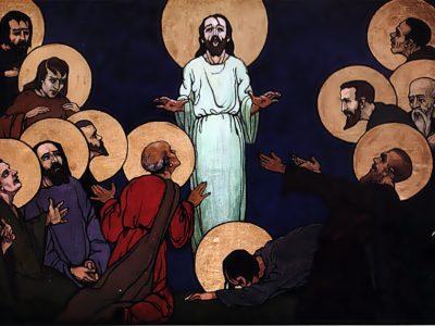 """Олена Кульчицька. Явлення Христа апостолам. Із циклу """"Страсті Христові"""". 1915 р."""