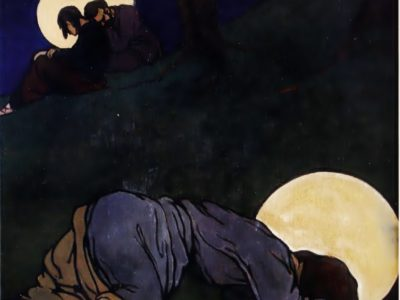 """Олена Кульчицька. Христос на Оливній горі. Із циклу """"Страсті Христові"""". 1915 р."""