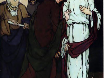 """Олена Кульчицька. Зрада Юди . Із циклу """"Страсті Христові"""". 1915 р."""