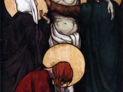 """Олена Кульчицька. Зняття з хреста . Із циклу """"Страсті Христові"""". 1915 р."""