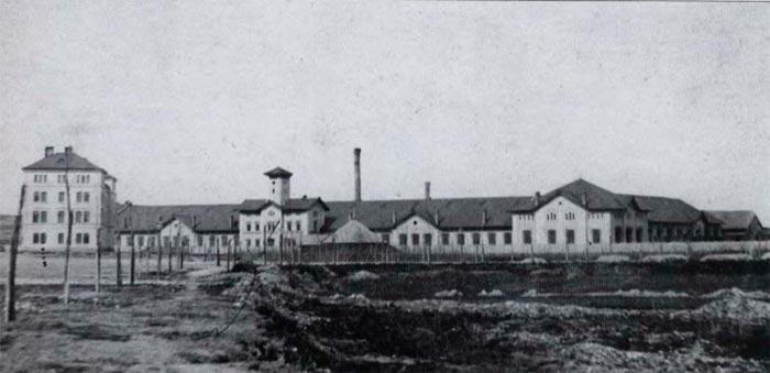 Головні залізничні майстерні у Львові, споруджені за проектом Людвіка Вежбицького у 1860-1 рр. Фото 1860-х років