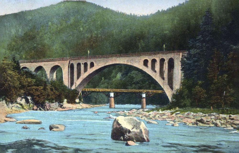 Міст у Яремче із аркою в 65 метрів – це був найбільший кам'яний міст в Європі в 1890-ті рр..