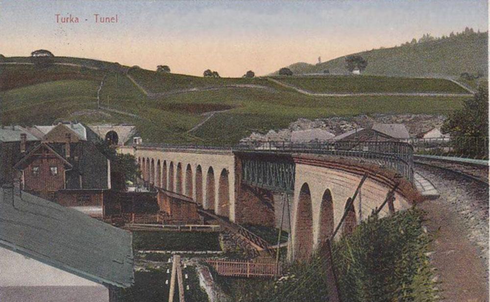 Віадук та тунель в Турці. Стара поштова листівка