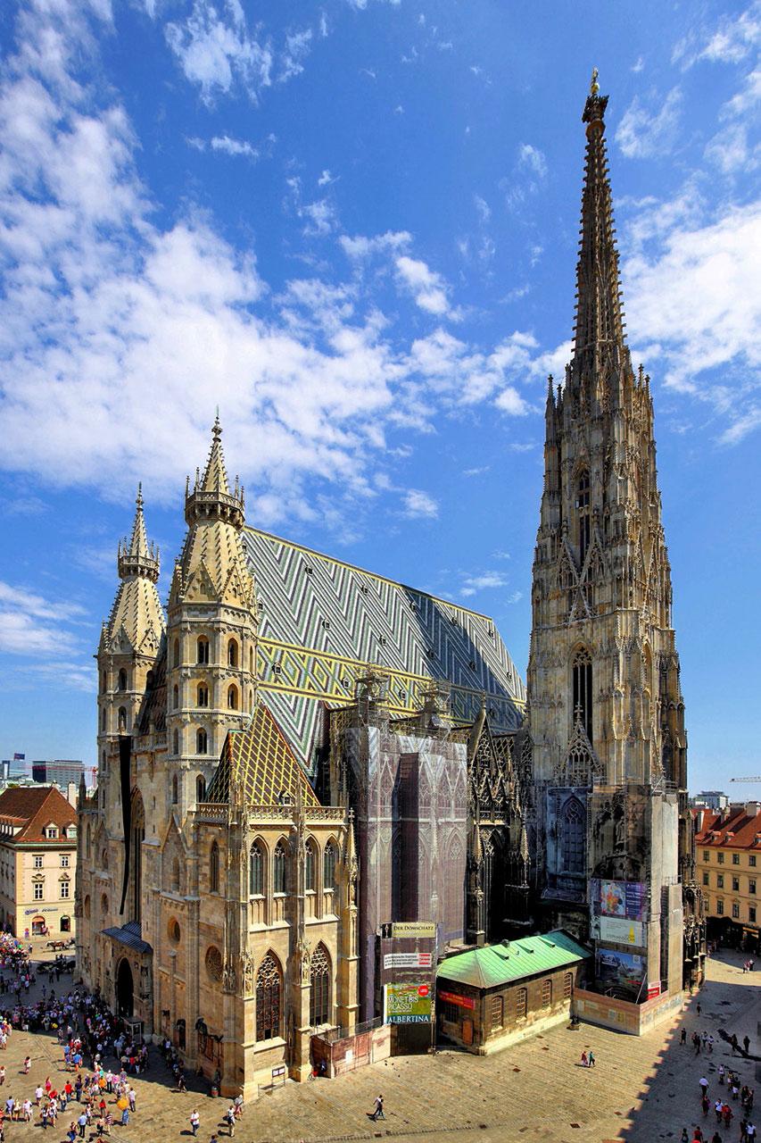Костел св. Стефана у Відні у реставрації якого в молоді літа брав участь Юліан Захаревич