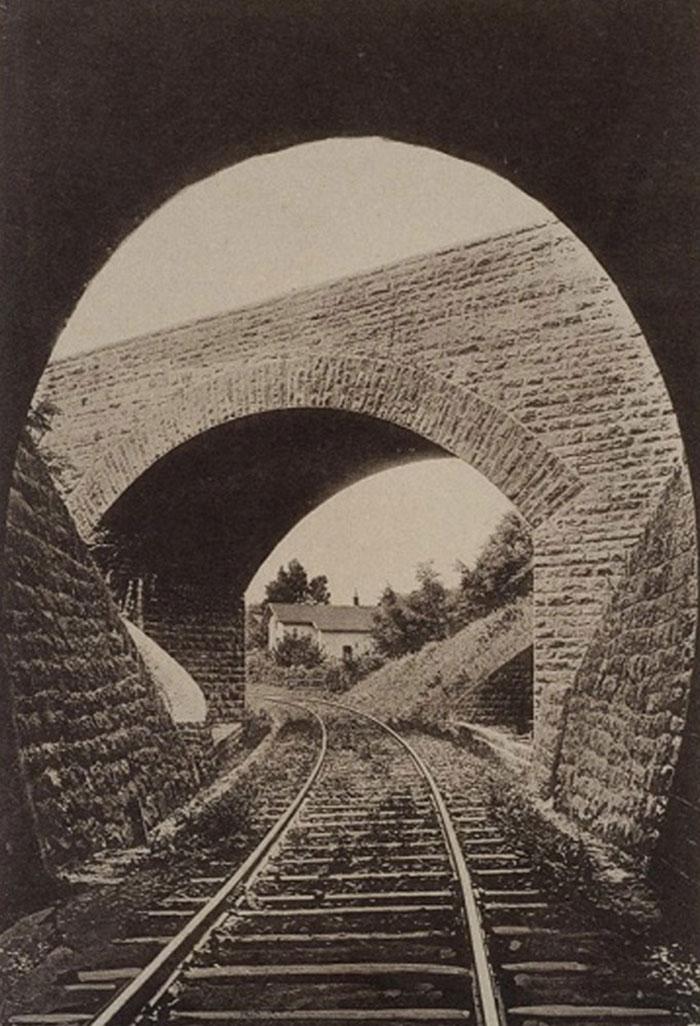 Бучацький тунель і міст на виході із нього на Галицькій трансверсальній залізниці (ділянка Станіславів – Гусятин)