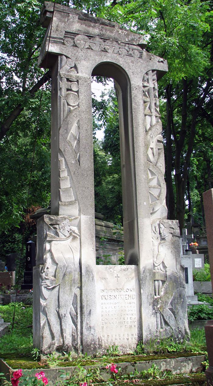 Пам'ятник на могилі Кароля Скібінського на Личаківському цвинтарі.