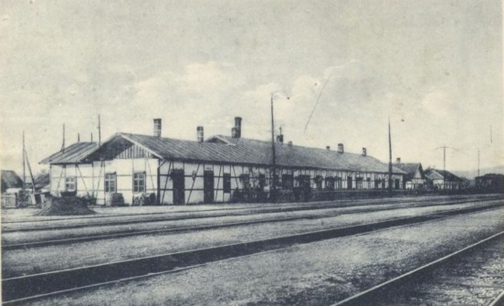 Залізнична станція Кірайгаза (нині – Королеве) на початку ХХ століття