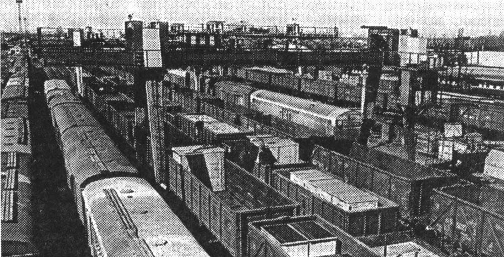 Вантажні колії станції Чоп, на якій починав свій трудовий шлях Георгій Кірпа. Фото кінця 1970-х років