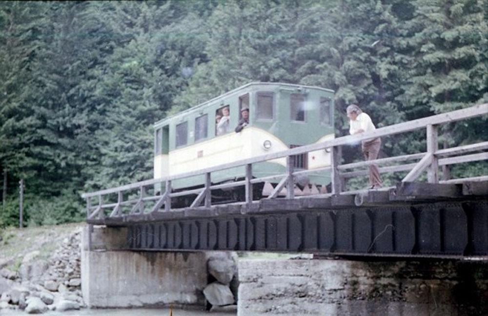 Вузькоколійна моториса на лінії Тересва – Усть-Чорна. 1982 р.