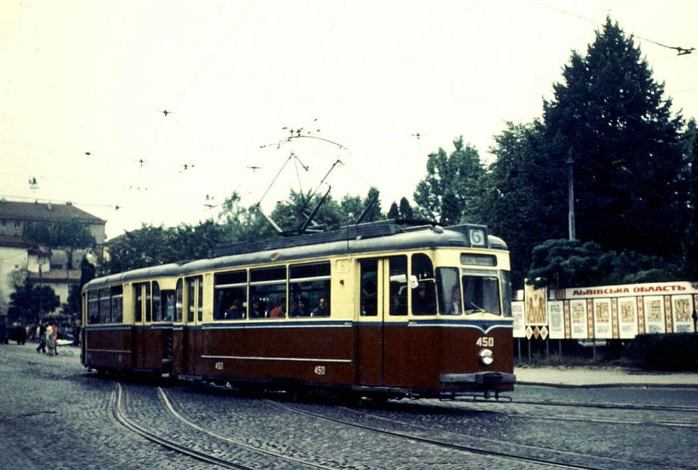 Поїзд із трамвайних вагонів «Gotha Т2-62» та «Gotha В2-62» № 450 + 550