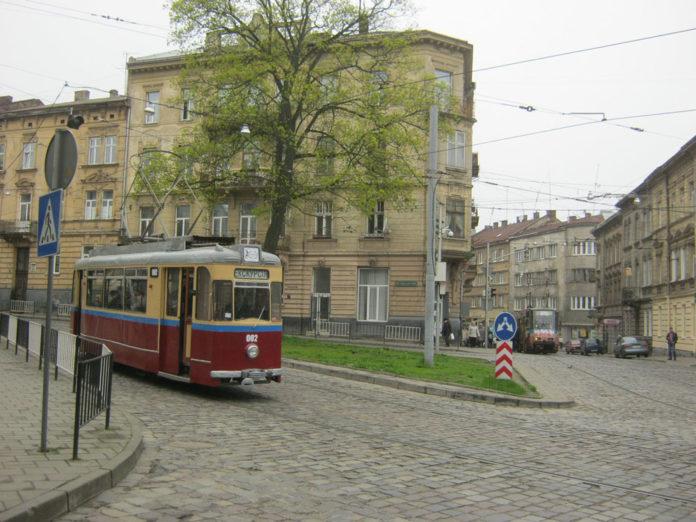 Відновлений трамвайний вагон «Gotha T59E» № 002 під час екскурсії у квітні 2016 року
