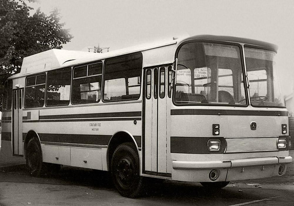 Прототип автобуса ЛАЗ-695НГ, який працював на стиснутому газу. 1984 р. Фото із колекції НДІ «Укравтобуспром»