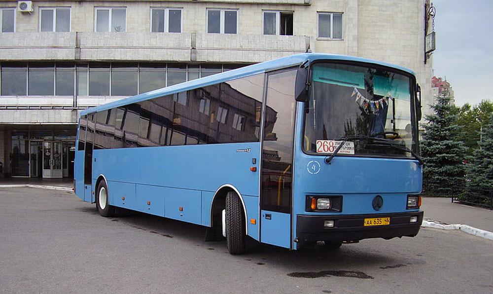 Рестайлінговий автобус ЛАЗ-5207 «Лайнер 12». Випуск цієї моделі започатковано у 1994 році
