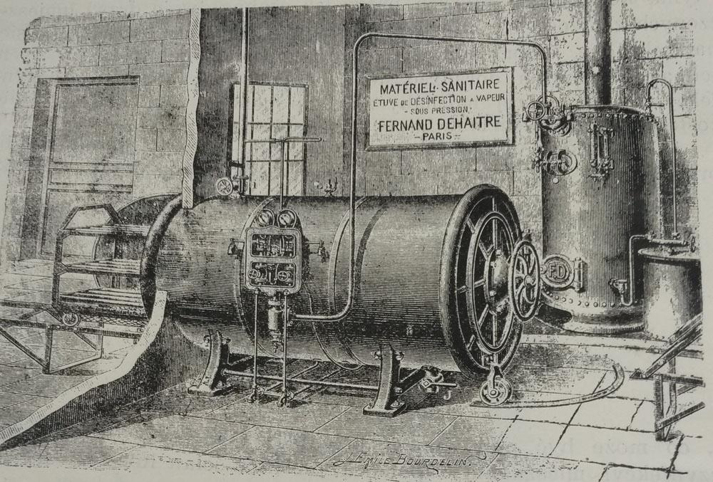 Дезінфекційний апарат, який використовувався в Крайовому загальному шпиталі у Львові наприкінці ХІХ століття