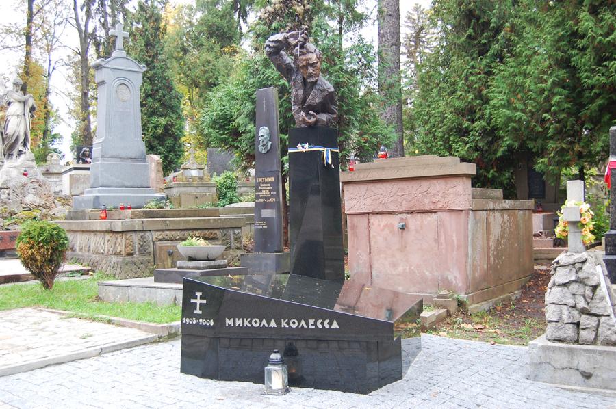 Могила Миколи Колесси