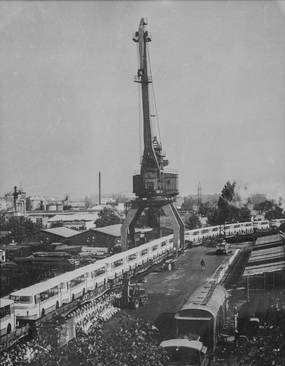 Портовий кран на Персенківці, фото 70-ті роки