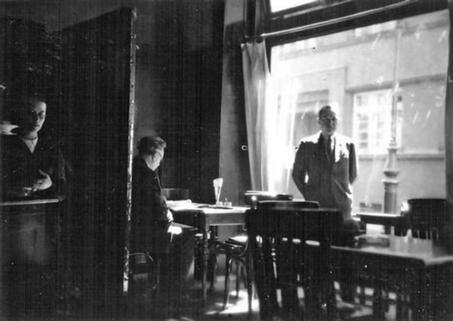 """Математик світової слави Стефан Банах у """"Шкотській"""". Фото 1930-х років -приватний архів сім'ї Герлінде Гранітцер"""