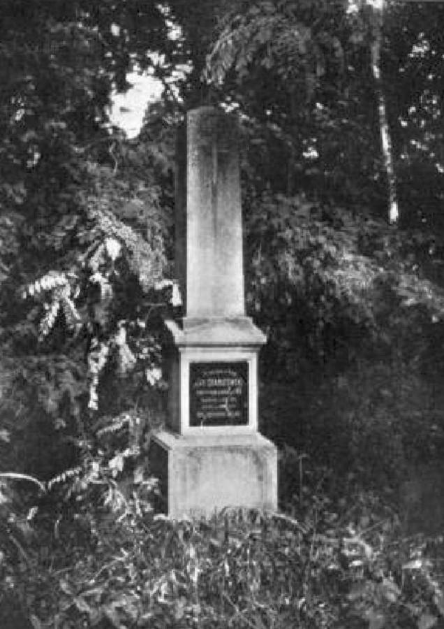 Могила Яна Ґранатовського на Стрийському кладовищі. Фото до 1911 року