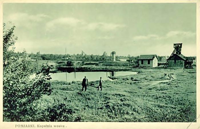 Трускавець. Урочище Помірки. Озокеритна шахта та ставок, поч. 20-і рр. ХХ ст..