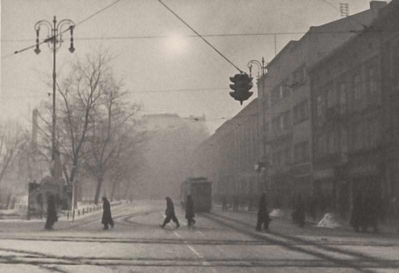 Сучасний проспект Свободи у Львові, зима 1941 року. Фото Сергія Шиманського