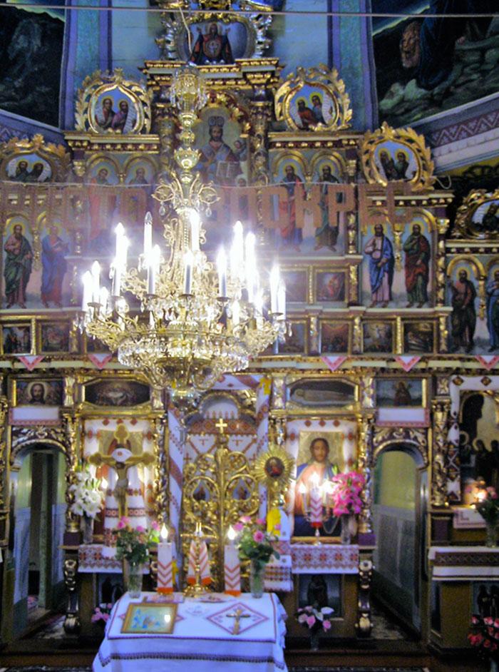 Унікальний іконостас черепинської церкви. Фото, надане церковною громадою.