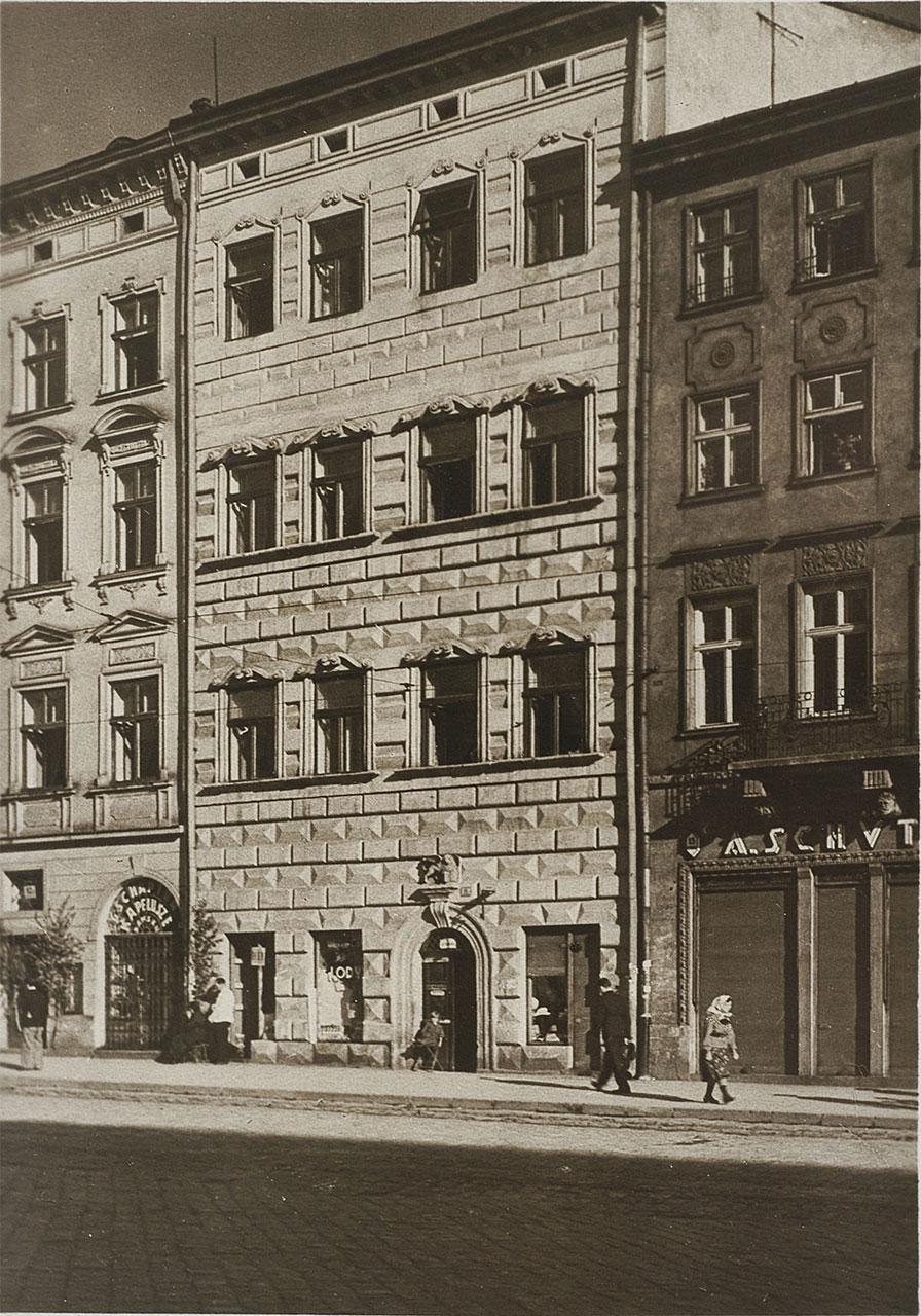Венеційська або Массарівська кам'яниця у Львові на Площі Ринок №14. Фото Адама Ленкевича, 1938 рік.